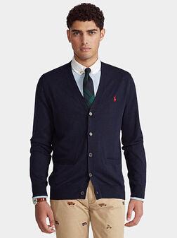 Elegant cardigan in blue - 1