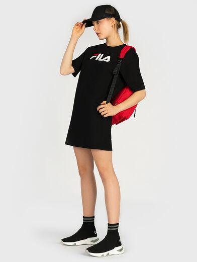 Cotton tee dress with maxi logo - 4