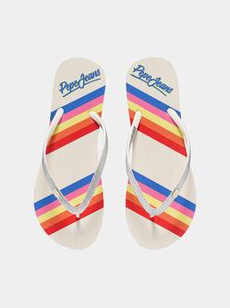 Плажни чехли RAKE FABI в сребрист цвят - 1
