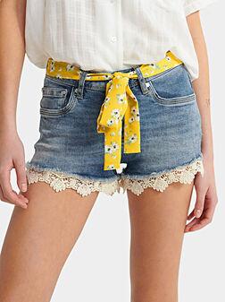 Short denim pants - 1