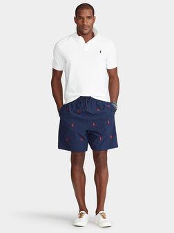 Плажни шорти с лого детайли - 1