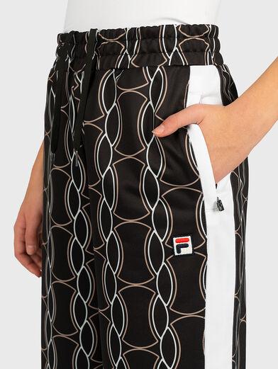 HADA Pants with contrasting print - 3