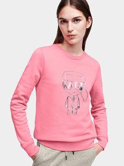 Pink sweatshirt with 3D logo print - 1