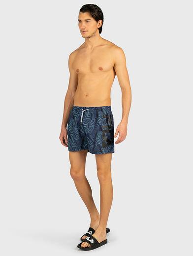 Beach shorts with logo inscription - 4