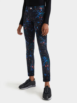 Skinny splashed trousers - 1