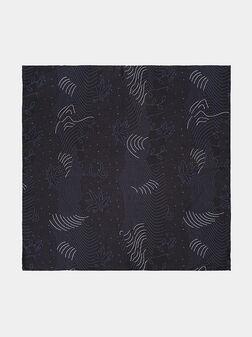 Silk handkerchief in black - 1