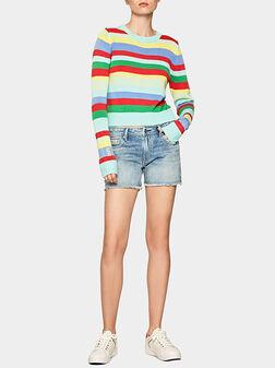 Къси дънкови панталони THRASHER RAINBOW - 1