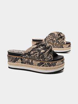 WICK SNAKE Platform sandals - 1