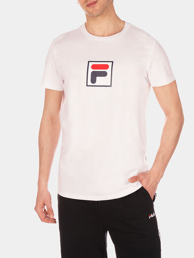 Black EVAN T-shirt with logo accent - 1