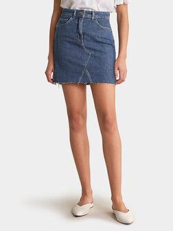 Mini jeans skirt - 1