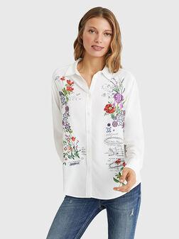 Риза GENOVA с флорален принт - 1