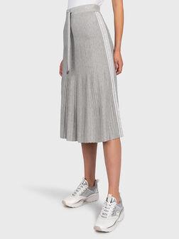 Grey skirt with logo branding - 1