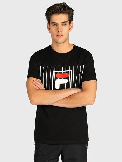 SAUTUS Black cotton T-shirt - 1