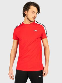 Памучен т-шърт THANOS в червен цвят - 1