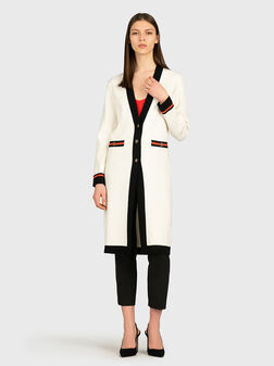 Long cardigan with contrasting details - 1