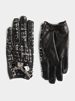 Ръкавици от туид K/SOHO с метални детайли - 1