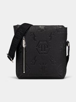 Leather cross body embossed logo - 1