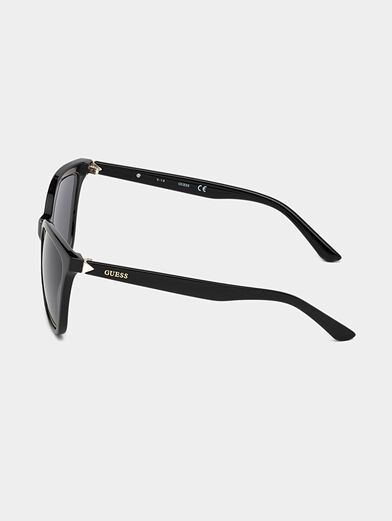 Glasses with black frames and logo detail - 2