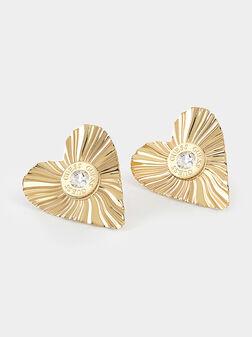 Heart-shaped earrings - 1