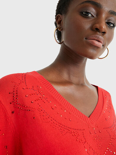 GANTE Sweater in red color - 6