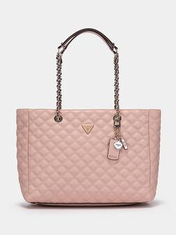 Розова чанта ASTRID с капитониран ефект - 1