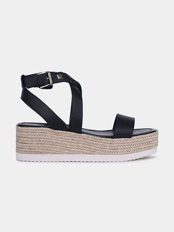 LOWRY Black leather sandals - 1