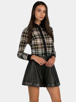 Риза LESLIE в черен цвят - 1