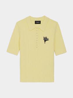Памучен поло-шърт в жълт цвят - 1