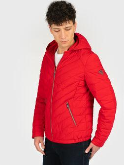 Подплатено яке в червен цвят - 1