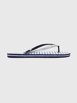 Плажни обувки RAKE SAILOR със сребрист брокат - 1