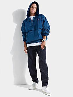 GO REBEL Blue hooded windbreaker - 1