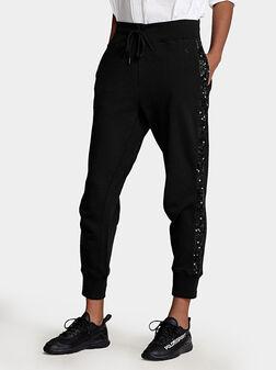 Спортен панталон с пайети  - 1