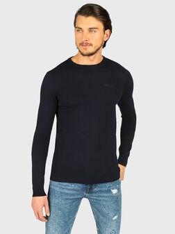 Пуловер CANNETTE в син цвят - 1