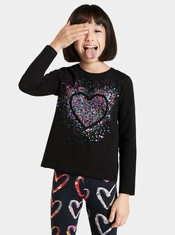 Blouse with long sleeves and art details - 1