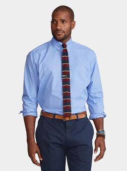 Blue cotton shirt - 1