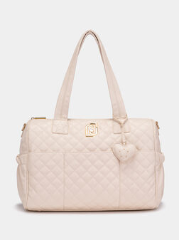 Чанта в бежов цвят - 1