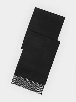 Black cashmere scarf - 1
