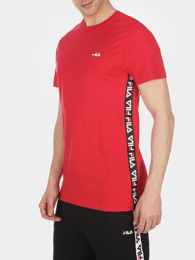 TALAN Red T-shirt with logo branding - 1